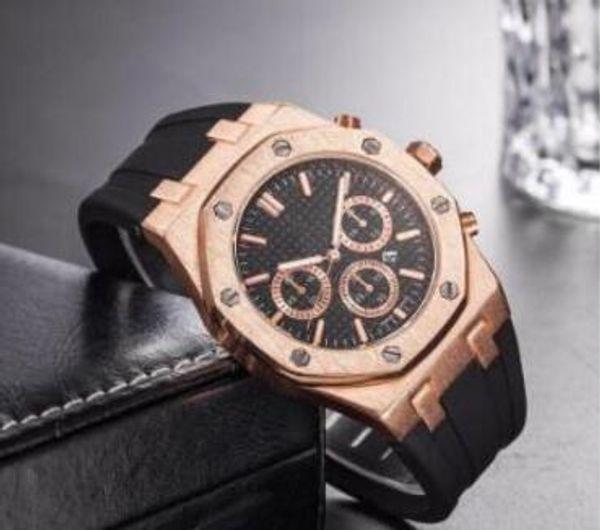 2019 Marca de lujo Oro Negro Reloj deportivo para hombre Cronógrafo Cronómetro Royal Oak Offshore Edición limitada Reloj de pulsera Lebron James para hombre