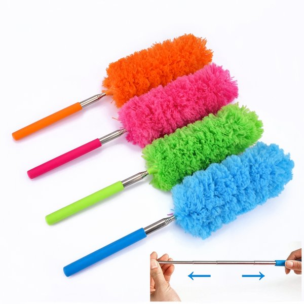 Microfiber Telescoping Duster Extendable Dust Brush Cleaner Closet Blind Car Panel Cooler Vent Kitchen Household Cleaning Supply