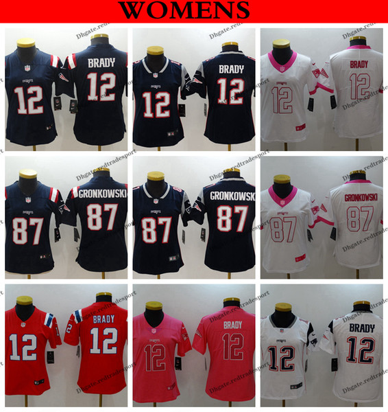 more photos 69eff fbf82 2019 Womens New Englands Ladies Patriots Camo Salute To Service 12 Tom  Brady 11 Julian Edelman 87 Rob Gronkowski Girls Football Jerseys From ...
