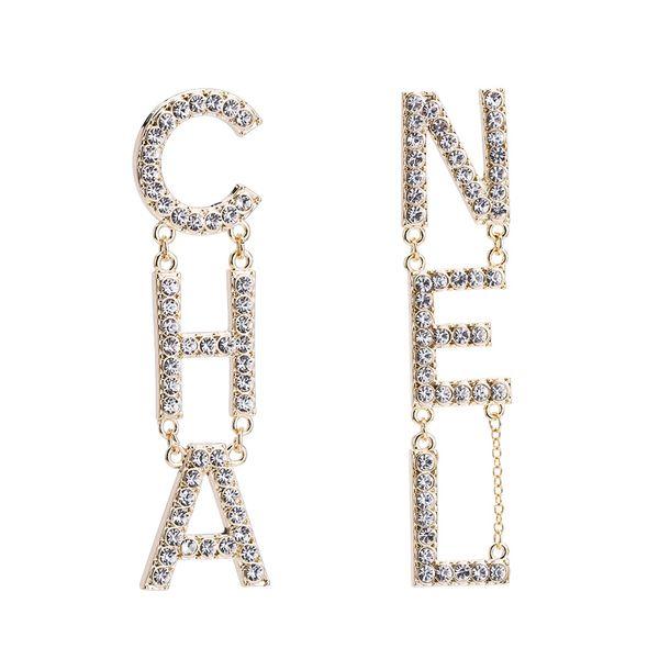 2019 new designer earrings designer jewelry luxury designer jewelry women earrings diamond earrings Alloy rhinestone ladies