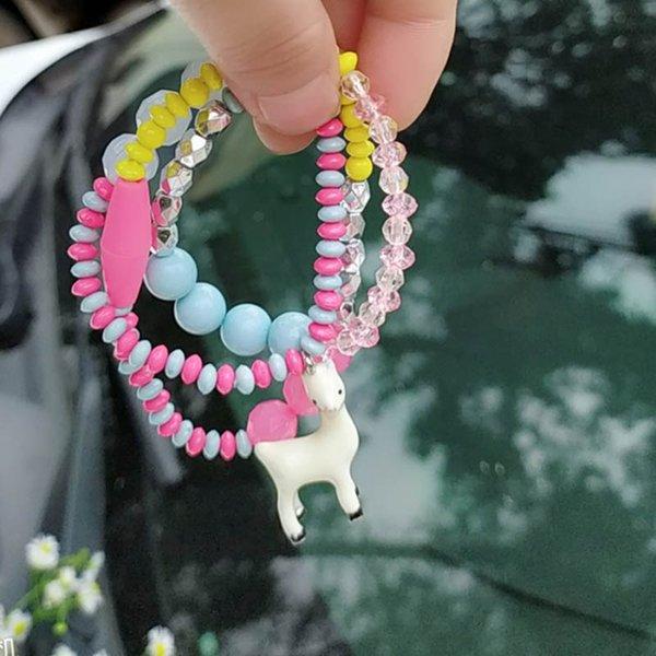 Unicornio collar de niñas lindo cristal pulsera de las niñas princesa moda niños collar niños niñas joyería diseñador de accesorios A6365
