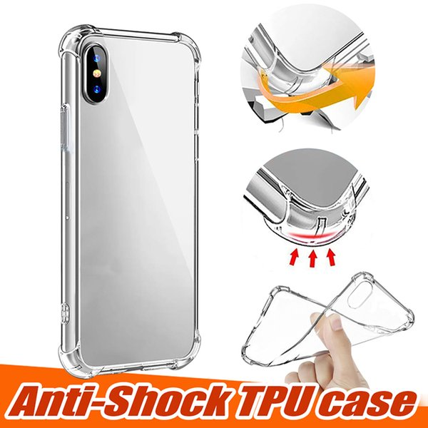 clear soft tpu case for samsung note 10 s10 iphone 11 xs max xr 7 8 plus shockproof transparent case for huawei p30