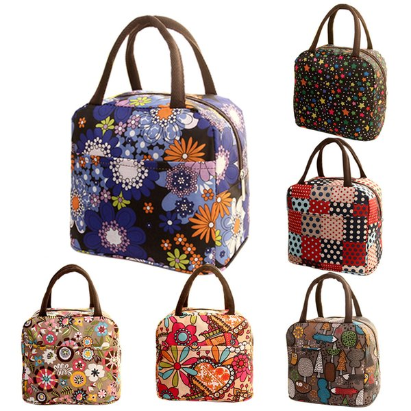 MUQGEW Lunch Bags Thermal Insulated Tote Picnic Cool Bag Cooler Box Handbag Pouch Flowers Big Capacity Lunch Bags 2019 Hot Sell
