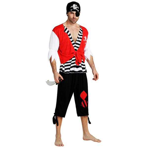 Disfraz de pirata capitán piratas disfraces adultos 020 disfraces fiesta de disfraces de halloween de navidad decoración