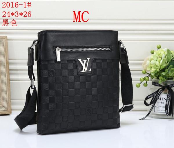 nuevo estilo de los hombres de negocios Bolsas Maletín mensajeros de lujo bolsos masculino bolsa de ordenador portátil de oficina Negro Marrón bolsos de cuero cartera de los hombres