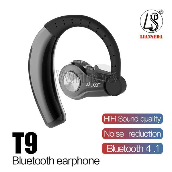 T9 Bluetooth-Kopfhörer Drahtlose Kopfhörer V4.1 Freisprecheinrichtung Bluetooth-Stereo-Headset mit MIC Car-Ohrhörer für Smartphones