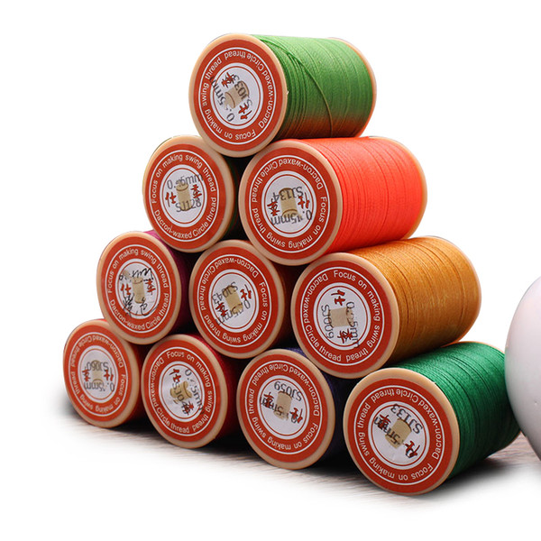 0.65mm Leather Sewing Waxed Thread Per Spool Stitching Thread for Leather Craft DIY/Bookbinding/ Shoe Repairing/Leather Projects