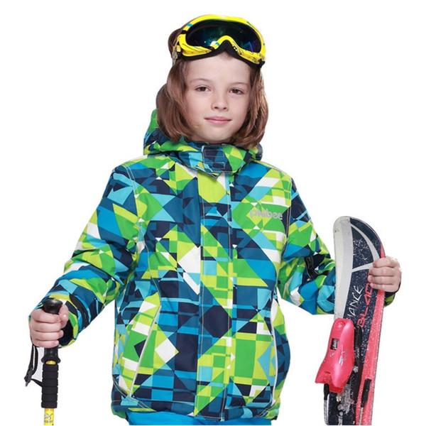 2018 New Boy Ski Coat Jacket Snow Winter Kids Size Outdoor Windproof Hiking Warm