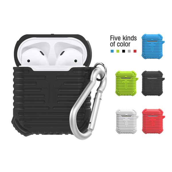 Protective Cover Case For Apple for AirPods Soft Silicone Shock Proof Earphones Case Full Protective Case