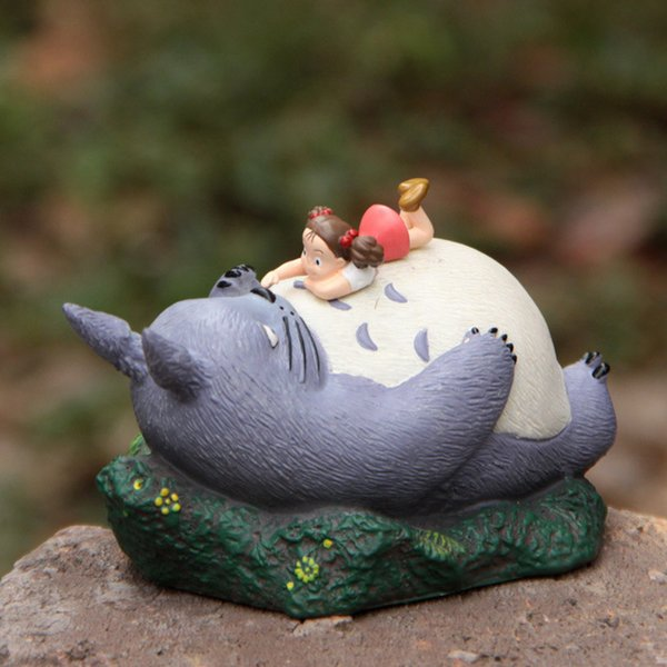 Large Resin Hayao Miyazaki Totoro Cartoon Figurines Flower Pot Ornaments Fairy Potted Garden Moss Gnome Decoration Miniatures J190713