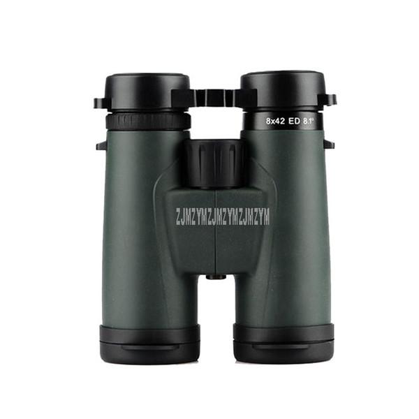 Telescopio binoculare a lungo raggio 8X42ED 8X 42mm ad alta ingrandimento professionale Zoom professionale HD Potente ottica con prisma