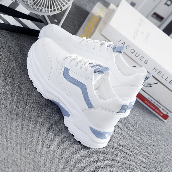 Women Sneakers 2019 Runing Shoes Woman Comfortable Breathable White Flats Female Platform Sneakers zapatos de mujer SX-24