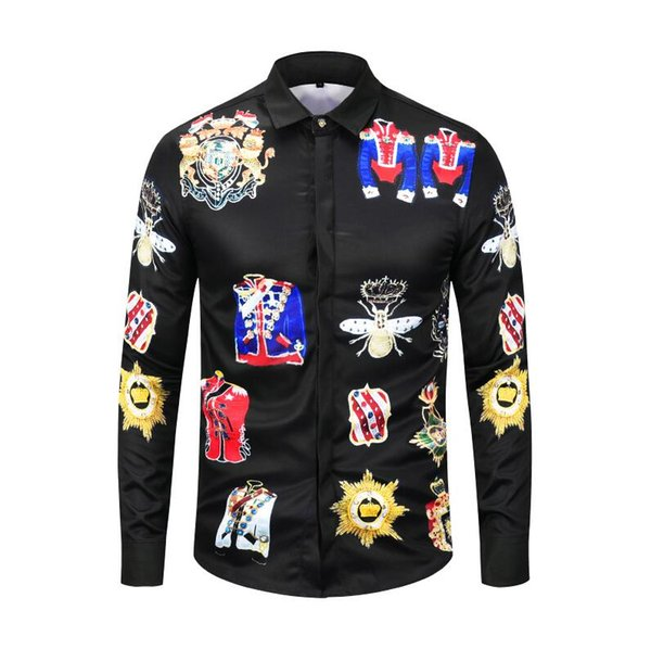 Men's Classical Plaid Shirt 2017 Spring New Brand Turn-down Collar Slim Fit Business Men Dress Shirts Big Size S-4XL N544