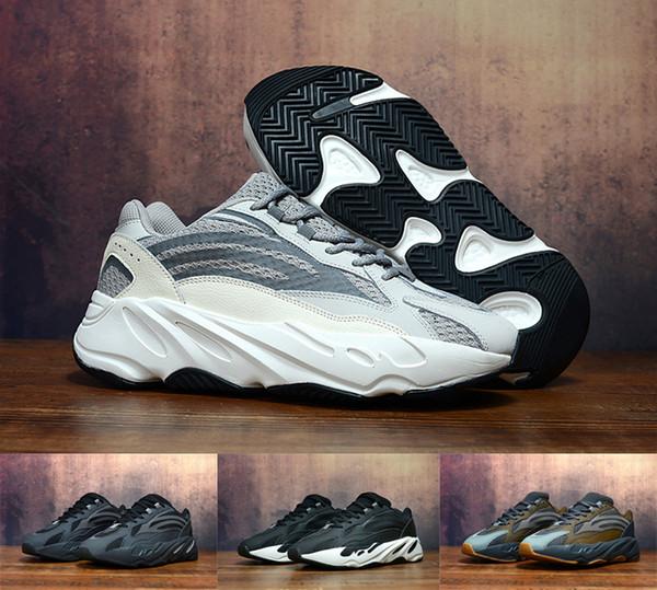 Kanye West 700 Wave Runner Chaussures De Course Pour Hommes 700s V2 Statique Baskets De Sport Mauve Gris Solide Designer De Luxe Baskets chaussure Taille 40-45