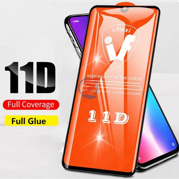 11D полное покрытие клей Temepered стекло протектор экрана для iPhone 11 PRO MAX XR XS MAX X 6 7 8 Plus для Samsung Galaxy A10 A20 CORE A20E