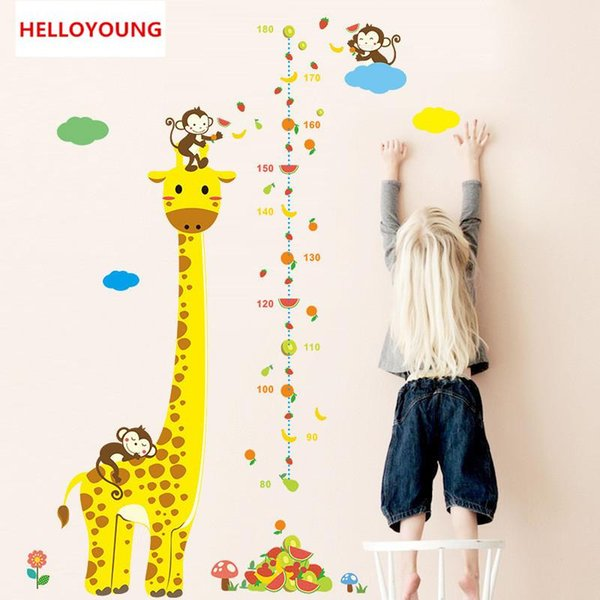 DIY Home Decorative Baseboard Wall Stickers The Giraffe Height Size Waterproof Bedroom Rural Wallpapers Wall Art Quotes Stickers Wall Art Sticker From