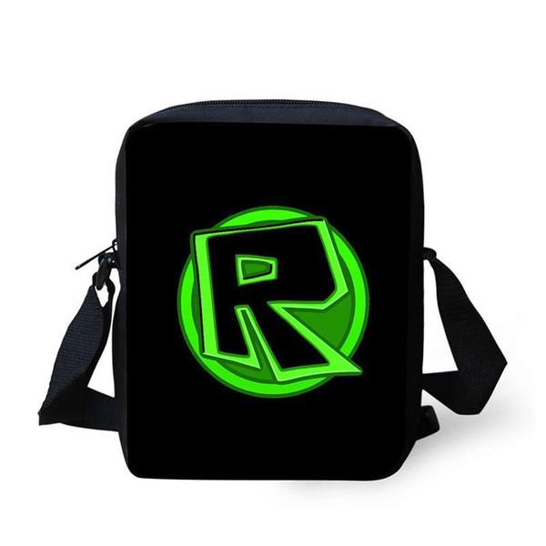 Cute Roblox School Bag Mini Children Messenger Bag 2D Printing Cross Body Kids Schoolbag For Boys Girls Student One