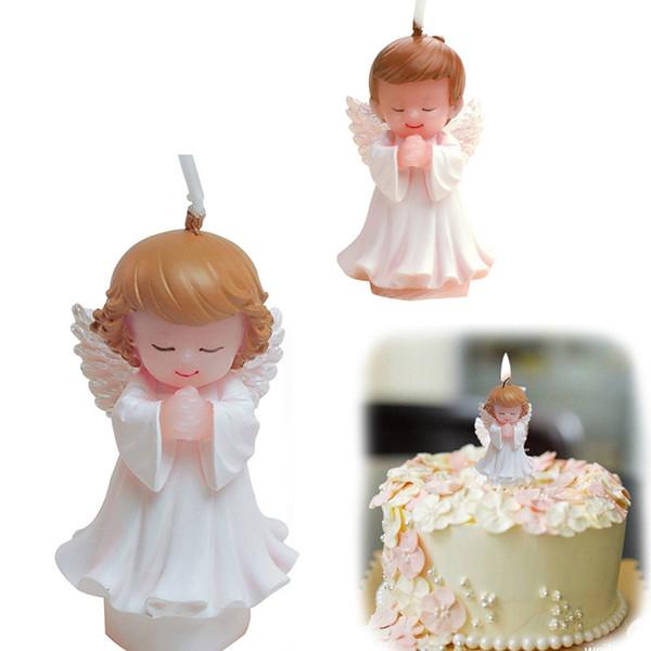 Engel Rosenkranz Kerze Kuchendeckel Tauftaufe Hochzeit Erste 1. Kommunion Baby-Dusche Tabellenmitteldekoration Geschenk