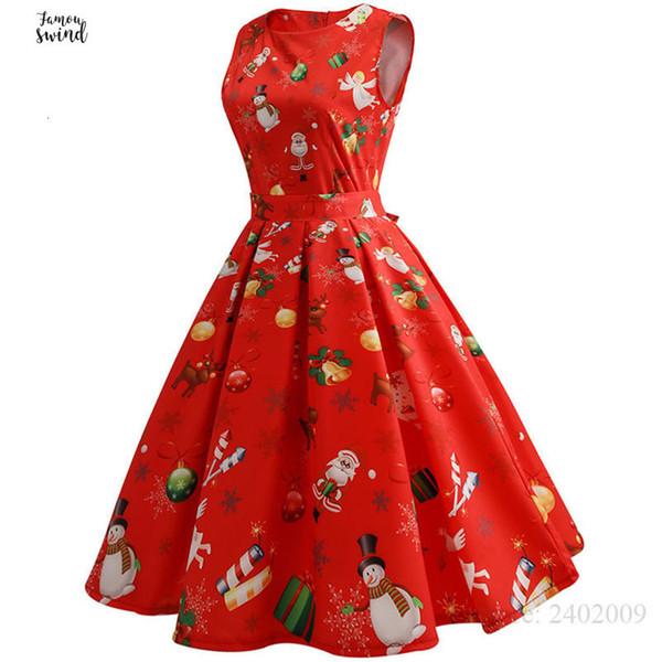 Compre Vestidos Rojos De La Vendimia De Las Mujeres Casuales Tamaño De La Ropa De Diseño Elegante Trabajo De Oficina O Mangas De Cuello Vestido De