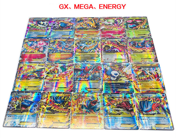 20PCS A Box Card Game For Boys EX GX(1) GX(2) Energy Trading Funny Playing Card Games guess anime board games cards against muggles Boy Gift