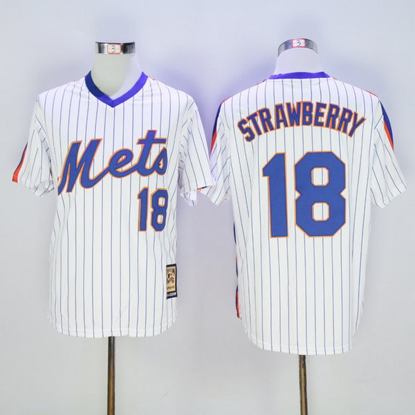 top popular Wholesale Men Darryl Strawberry Jersey Mike Piazza #30 Michael Conforto baseball jersey Shirt Stitched Top QualityL 2020