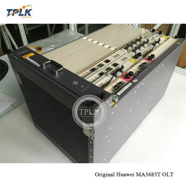 Best Price 100% Original Huawei MA5683T GPON OLT Line Terminal Device With  2*SCUN+2*10G X2CS+2*PRTE And Other Accessories Fiber Optic Broadband Speed