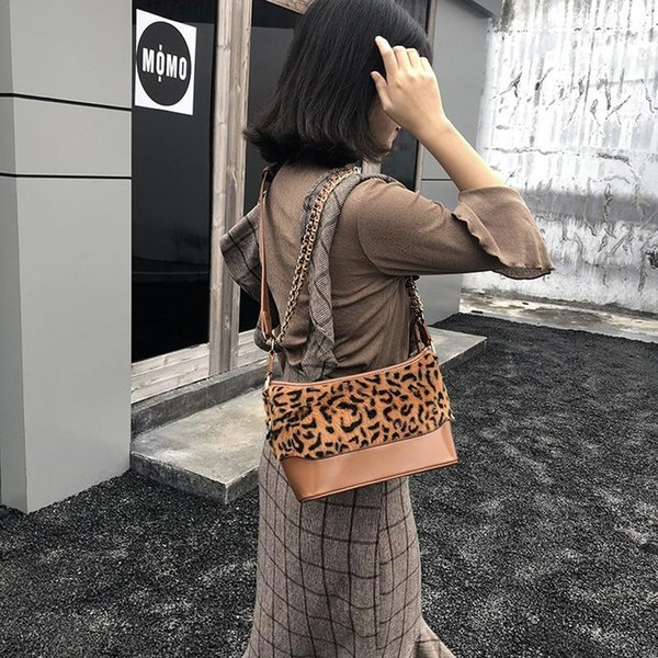 Vintage Single Shoulder Hand Bag For Women Ladies Japan Korean Fashion Cute Leopard Print Messenger Crossbody Bags Handbag Tote