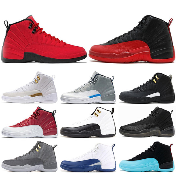 Wholesale 12 12s mens Basketball shoes Taxi Gym red THE MASTER Bulls FLU GAME GAMMA BLUE FRENCH BLUE men Sports Sneakers size 7-13