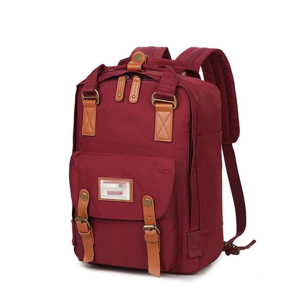 Büyük kapasiteli seyahat Sırt Çantası Anne Çantası Kız Bağbozumu Şık Okul Çantası Bookbag Bayanlar Tuval Sırt Çantası WWA212