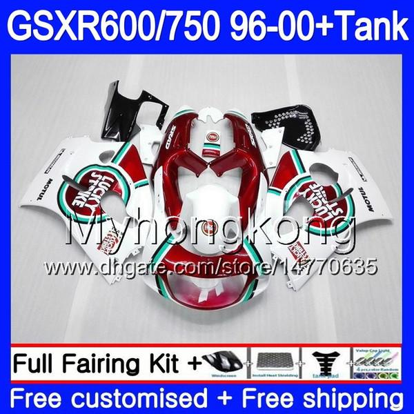 Body Lucky Strike red+Tank For SUZUKI SRAD GSXR 750 600 GSXR600 96 97 98 99 00 291HM.29 GSXR-600 GSXR750 1996 1997 1998 1999 2000 Fairings