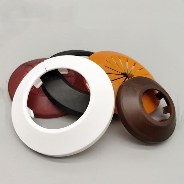 2PC ronde soupape de couverture de canalisation de couverture décorative de conduit de trou de paroi de tuyau en plastique PP bouchon de cuisine accessoires pour la maison salle de douche