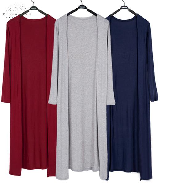summer 2019 long thin cardigan casaco feminino modal women shawl long sleeve plus size coats sunscreen clothing cardigan jacket