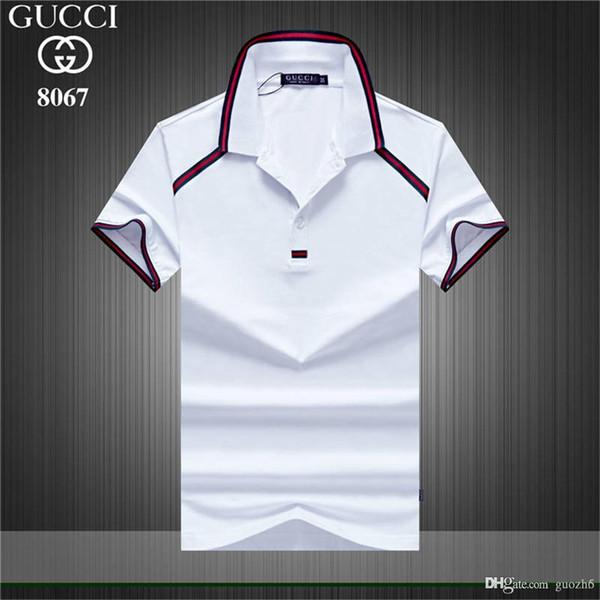 GÜNSTIGE Mode Herren T-Shirt Sommer kurze Top-Qualität Baumwolle POLO Hemden berühmte Designer Marke Slim Fit T-Shirt Männer heiß