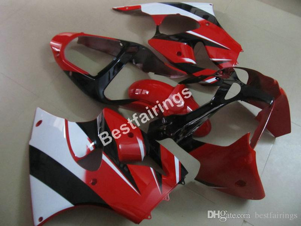 Injection mold 100% fit Fairing kit for Kawasaki Ninja ZX6R 00 01 02 red white fairings ZX-6R 2000 2001 2002 FX09