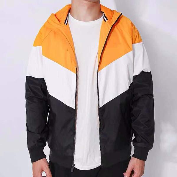 Sıcak Tasarım Erkekler Ceketler Tasarımcı Rüzgarlık Spor Marka Kırmızı Siyah Mont Sokak Tarzı Yüksek Kaliteli Fermuar Hoodies Turuncu CE9823