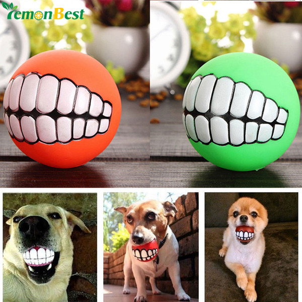 funny Cute Pet Product Pet Toys Puppy Cat Dog Funny Ball Teeth Silicon Toy Chew Sound Dogs Play Toys Squeaker