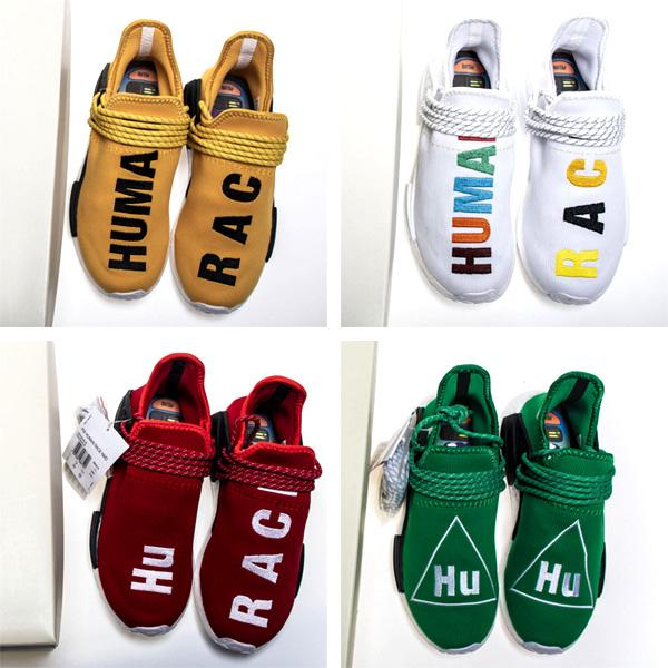 PW Human Race Shoes Are Reselling, Shop Pharrell Williams Hu Trail Human Race Exclusive Nerd Sneakers Colorfull Black White Mens Womens