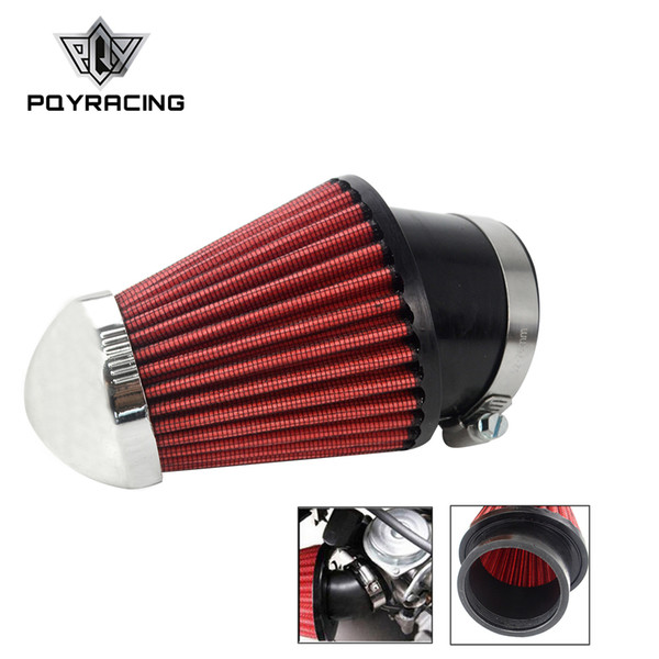 PQY - Professional Motorcycles Mushroom Head Air Intake Filter Cleaner 62mm RED PQY-AIT23