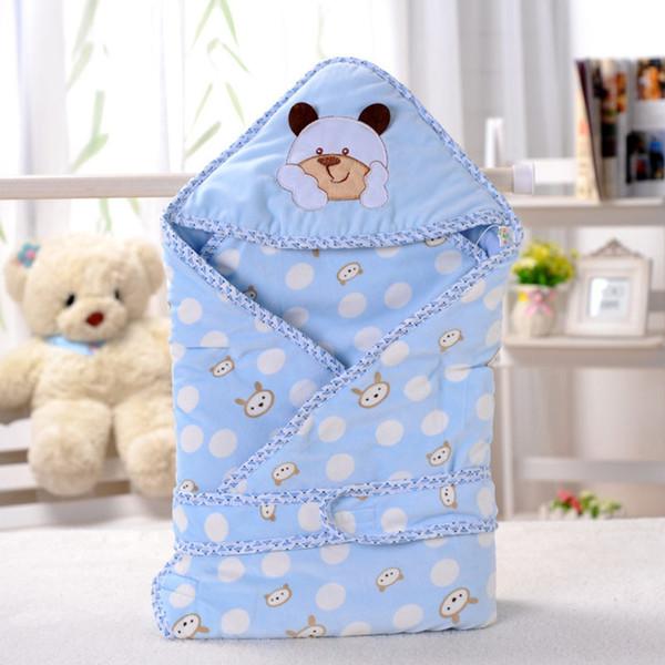 Warm Baby Blanket New Thicken Soft Baby Sleeping Bag Infant Swaddle Envelope Stroller Wrap For Newborn Bedding Blankets