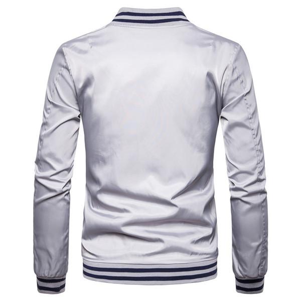 Le nouveau commerce transfrontalier exclusivement pour le cerf veste baseball col veste chaude veste de moto mâle de broderie hommes de couleur unie