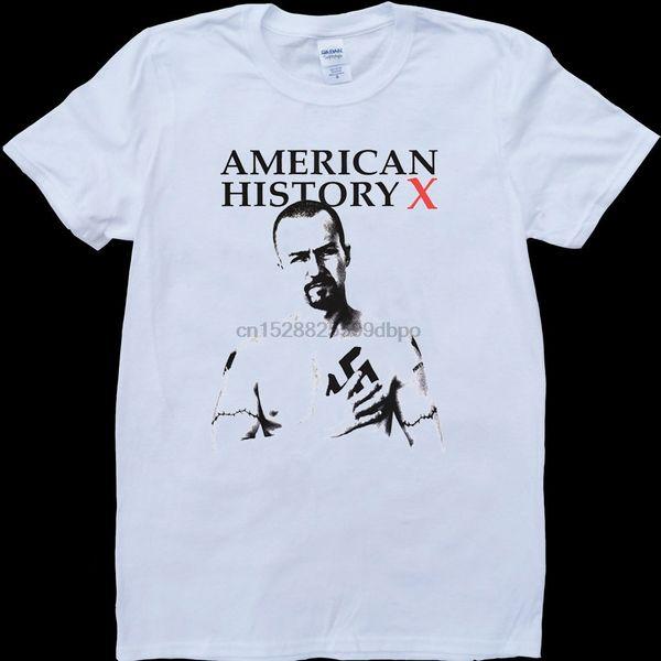 Amerikanische Geschichte X Weiß Maßgeschneiderte T-shirt Coole Casual Stolz T-shirt Männer Unisex New Fashion T-shirt Lose Größe Top Ajax