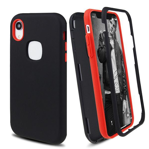 Mattes Finish 3 in 1 Hybrid Defender Phone Cases für iPhone XR XS MAX 8 7 6 Plus Samsung S9 Plus Hinweis 9