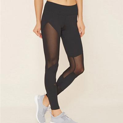 Lucylizz Mujeres Pantalones de yoga con control de la barriga sin elástico alto Cintura alta Leggings deportivos Gimnasio Entrenamiento Mallas para correr