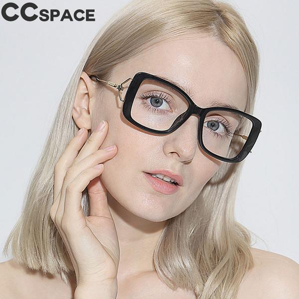 45564 Square Big Glasses Frames Vintage Women Unique CCSPACE Brand Designer Optical EyeGlasses Fashion Eyewear Computer Glasses