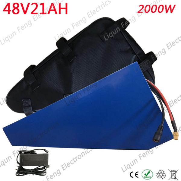 Free Customs Duty 48V 1500W 2000W Lithium Battery 48V 20AH Ebike Battery 48V 20AH Electric Bike Battery With 54.6V 5A Charger.