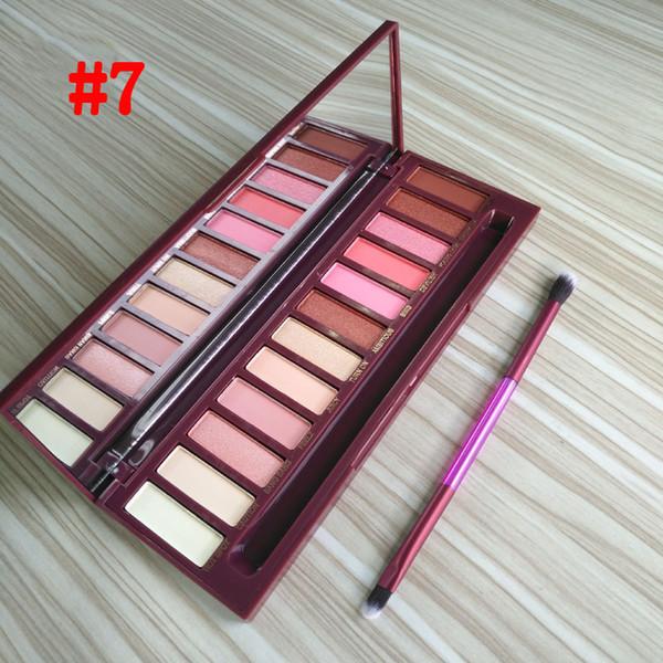 Make-up-Wärme Palette Kirsche 12 Farbe Lidschatten-Palette mit Pinsel 1 2 3 4 5 Schimmer matte Lidschatten 8 Arten