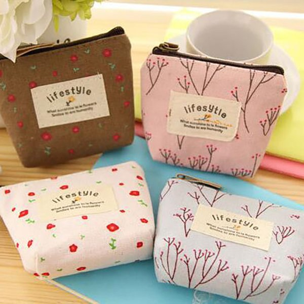 Fleur Floral Crayon Stylo Étui En Toile Cosmétique Petit Maquillage Outil Sac Pochette De Rangement Bourse Bourse Livraison gratuite 001