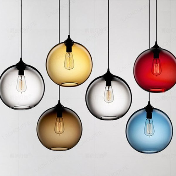 Industrial Glass Ball Pendant Lights Loft Vintage Led Hanging Lamp For Restaurant Dining Living Room Cafe Lighting Fixtures E27 Unique Pendant Lights