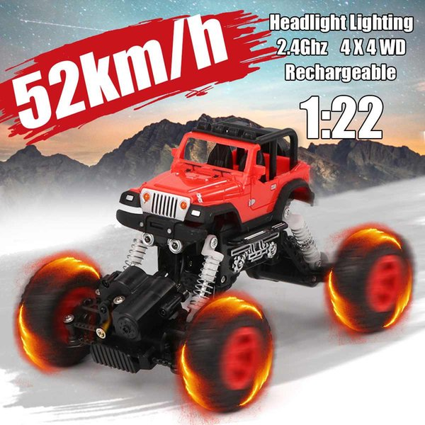 USB Charge RC Car Electric Truck 4WD Remote Control Off-Road Vehicle 1:22 2.4GHZ Car Truck Vehicle Climbing Electric Car for Boy