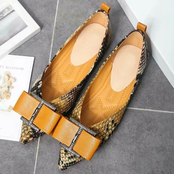 Good sale Halbschuhe Herbst Schuhe Leder Flache Casual Damen